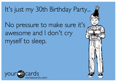 30th birthday e-card