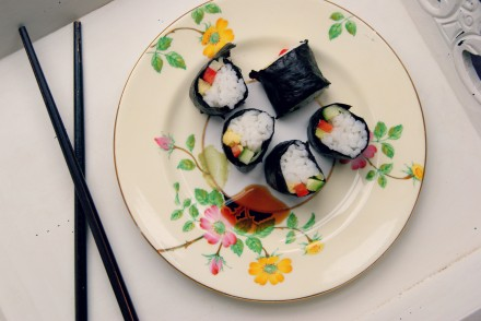 Store-cupboard saviour: Vegetable sushi