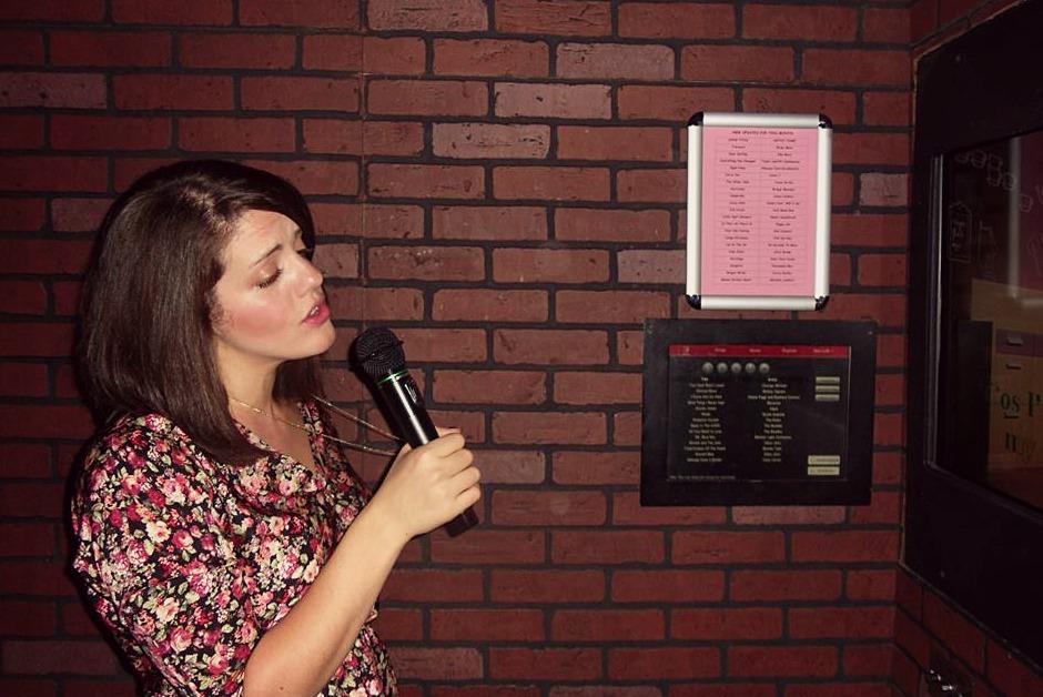 Rose singing karaoke
