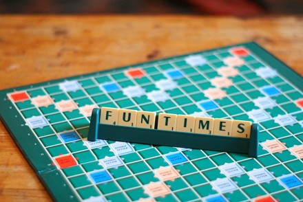 Fun times playing scrabble
