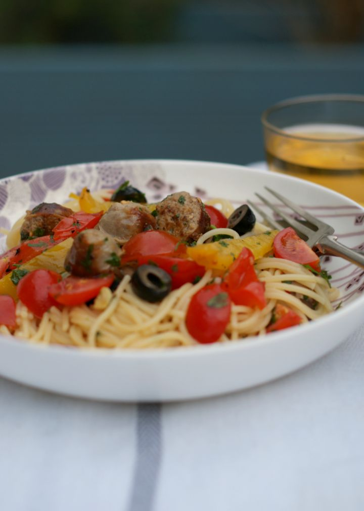 A summery sausage pasta recipe | Everyday30.com