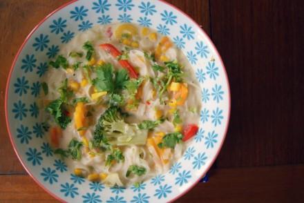 Asian-style noodle soup