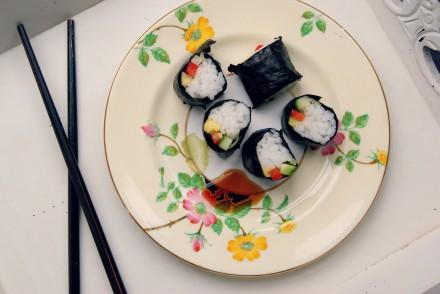 Store-cupboard saviour: Vegetable sushi