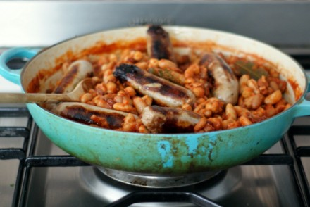An easy Sausage and bean stew for Bonfire Night