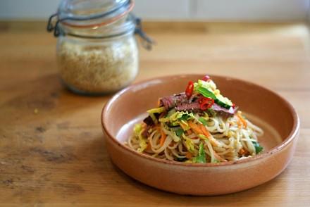 Crunchy Asian noodle salad