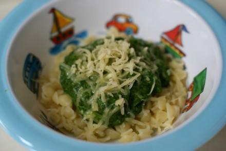 10 super-quick baby dinner ideas - spinach pasta | Everyday30.com