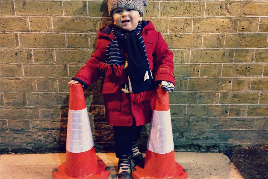 Traffic cones and other toddler obsessions | Everyday30.com